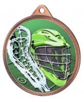 Lacrosse Colour Texture 3D Print Bronze Medal