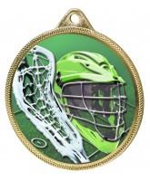 Lacrosse Colour Texture 3D Print Gold Medal
