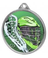 Lacrosse Colour Texture 3D Print Silver Medal