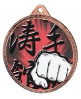Martial Arts Fist Colour Texture 3D Print Bronze Medal