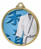Martial Arts Kimono Colour Texture 3D Print Gold Medal