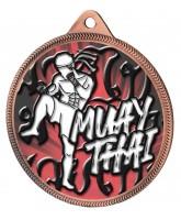 Muay Thai Colour Texture 3D Print Bronze Medal