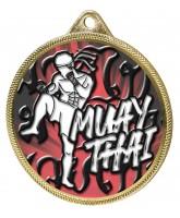Muay Thai Colour Texture 3D Print Gold Medal