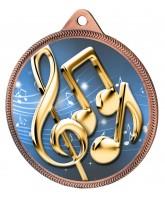 Music Notes Colour Texture 3D Print Bronze Medal