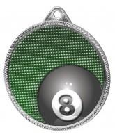 Pool Colour Texture 3D Print Silver Medal
