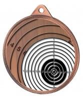 Shooting Target Colour Texture 3D Print Bronze Medal