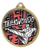 Taekwondo Colour Texture 3D Print Gold Medal