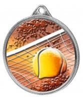 Tennis Colour Texture 3D Print Silver Medal