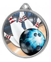 Tenpin Bowling Colour Texture 3D Print Silver Medal
