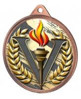 Victory Colour Texture 3D Print Bronze Medal