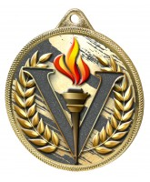 Victory Colour Texture 3D Print Gold Medal