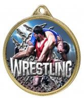 Wrestling Colour Texture 3D Print Gold Medal