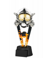 Oxford Fire Fighter Helmet and Mask Trophy