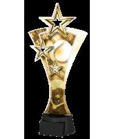 Classic Triple Star Baseball Trophy