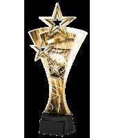 Classic Triple Star Basketball Trophy
