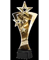 Classic Triple Star Cheerleading Trophy