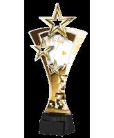 Classic Triple Star Poker Cards Trophy