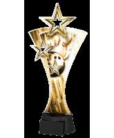 Classic Triple Star Tenpin Bowling Trophy
