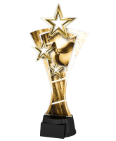 Classic Triple Star Volleyball Trophy