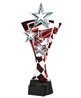 Red and Silver Triple Star Motorsports Trophy