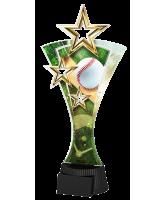 Triple Star Baseball Trophy
