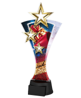 Triple Star Cheerleading Trophy