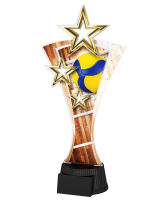 Triple Star Volleyball Trophy