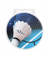 Atlas Badminton Acrylic Medal