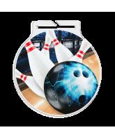 Atlas Tenpin Bowling Acrylic Medal