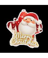 Merry Christmas Santa Star Medal
