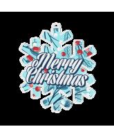 Merry Christmas Snowflake Medal