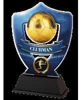 Blue Clubman Football Shield Trophy