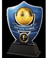 Blue Top Goal Scorer Football Shield Trophy