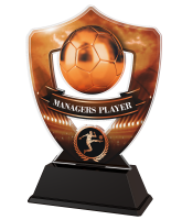 Bronze Managers Player Football Shield Trophy