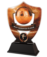 Bronze Most Improved Player Football Shield Trophy