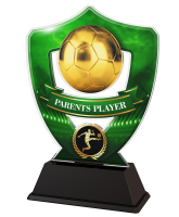 Green Parents Player Football Shield Trophy