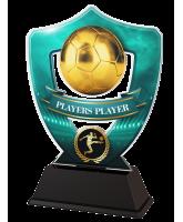 Light Blue Players Player Football Shield Trophy