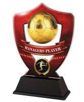 Red Managers Player Football Shield Trophy