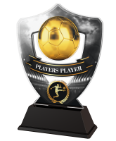 Silver and Gold Players Player Football Shield Trophy