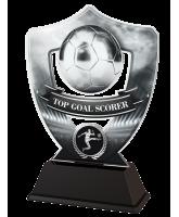 Silver Top Goal Scorer Football Shield Trophy