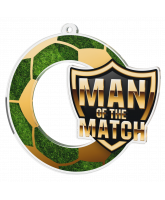 Man of the Match Football Shield Medal