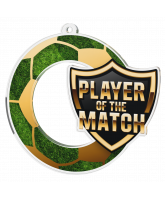 Player of the Match Football Shield Medal