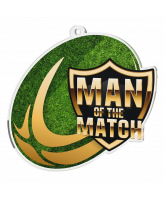 Rugby Man of the Match Acrylic Medal