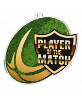 Rugby Player of the Match Acrylic Medal