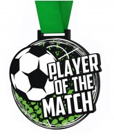Big Football Player of the Match Medal