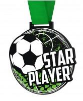 Big Football Star Player Medal