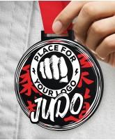 Judo Massive Monster Black Logo Medal