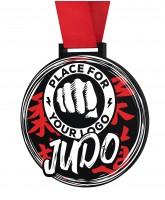 Judo Monster Black Logo Medal