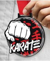 Karate Massive Monster Black Medal