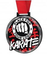 Karate Monster Black Logo Medal